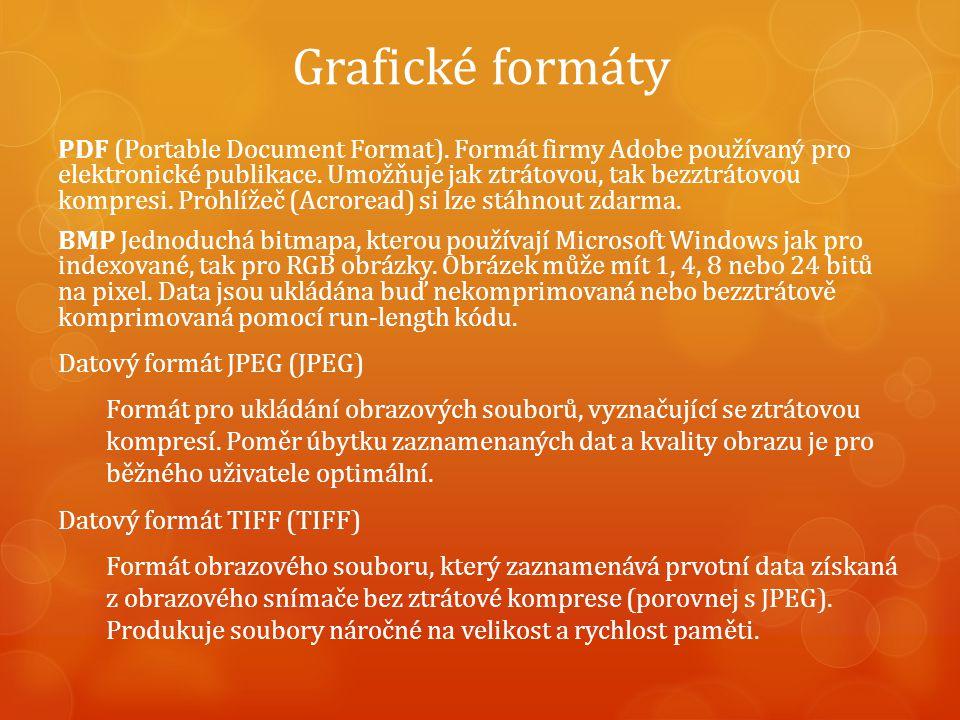 Grafické formáty PDF (Portable Document Format).
