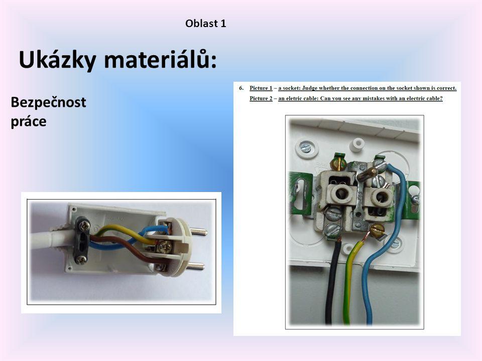 Oblast 1 Ukázky materiálů: Bezpečnost práce