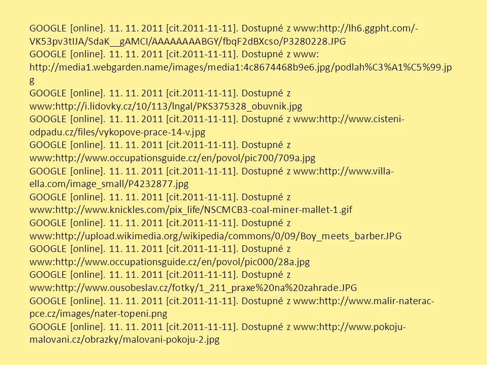 GOOGLE [online]. 11. 11. 2011 [cit.2011-11-11].
