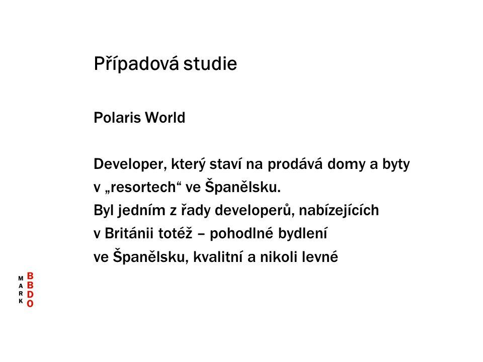"""Případová studie Polaris World Developer, který staví na prodává domy a byty v """"resortech"""" ve Španělsku. Byl jedním z řady developerů, nabízejících v"""