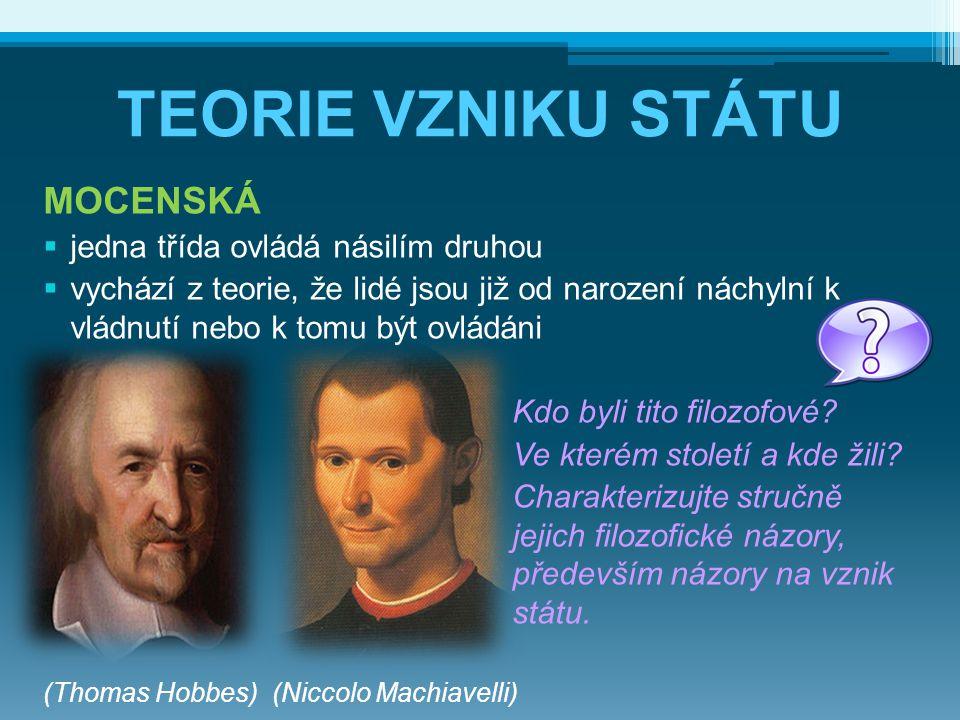 VZNIK PRVNÍCH STÁTŮ NEJSTARŠÍ STÁTY: a) staroorientální - od pol.