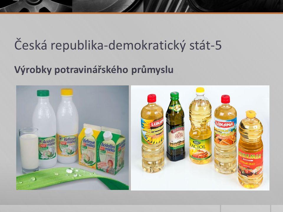 Česká republika-demokratický stát-5 Zápis: -průmysl je významné odvětví českého hospodářství -průmysl klade nároky na nerostné suroviny, energie a dopravu -nejsilnější odvětví v ČR : strojírenský, potravinářský, hutnický a chemický průmysl -další významná odvětví jsou průmysl energetický, stavební a spotřební -průmysl má značný vliv na životní prostředí, poškozuje ho
