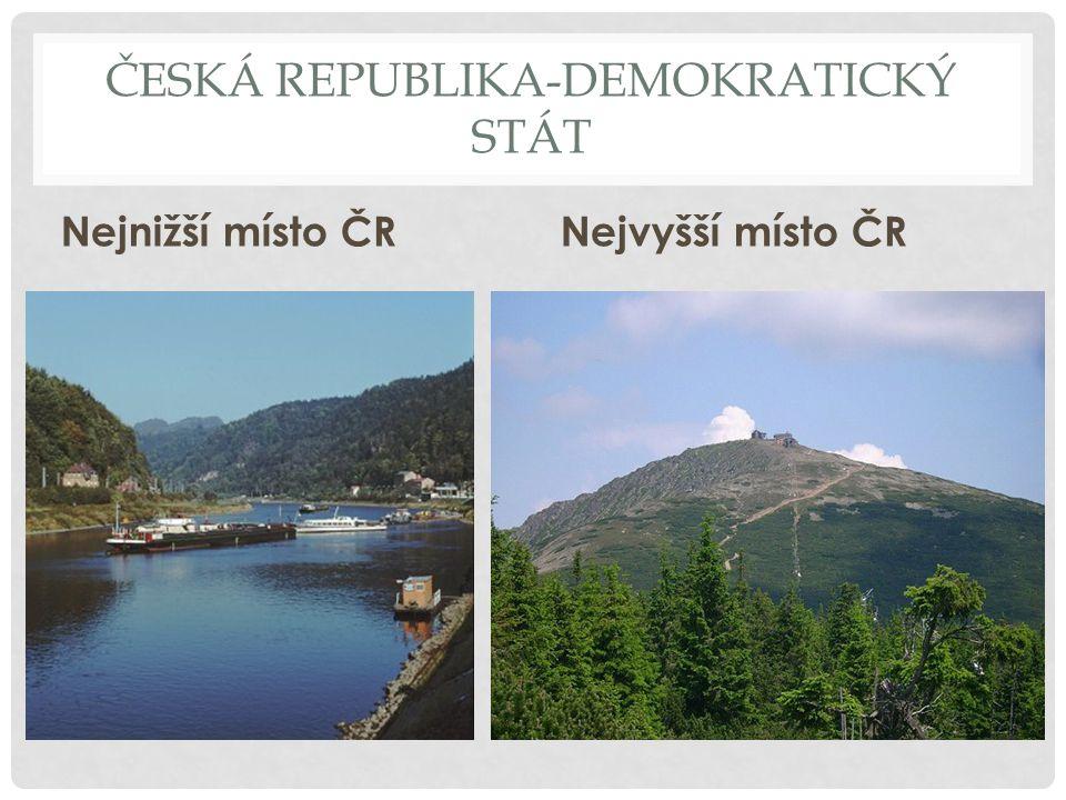 ČESKÁ REPUBLIKA-DEMOKRATICKÝ STÁT Vodstvo Území Česka leží na hlavním evropském rozvodí, což znamená, že většina řek zde má své prameny a odvádí vodu do zahraničí, zatímco z okolních zemí přitéká jen malé množství.