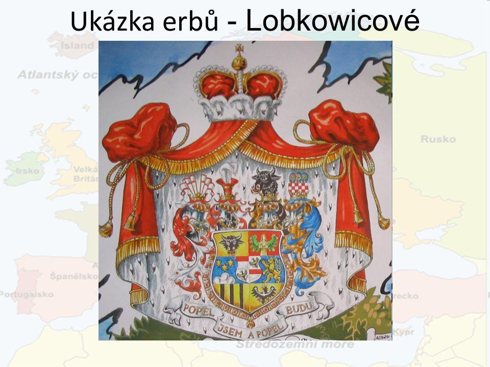 Ukázka erbů - Lobkowicové