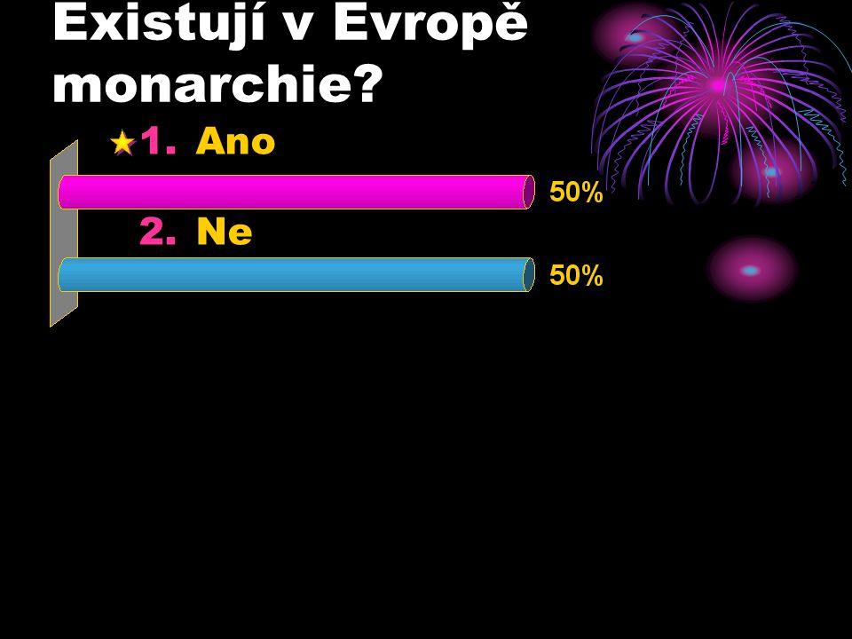 Existují v Evropě monarchie? 1.Ano 2.Ne