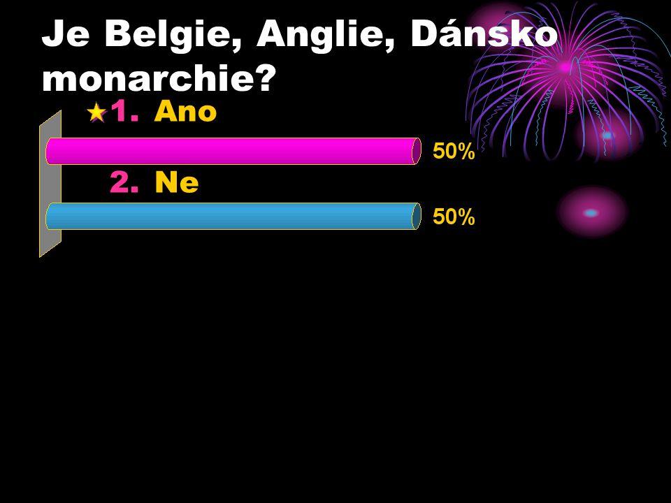 Je Belgie, Anglie, Dánsko monarchie 1.Ano 2.Ne