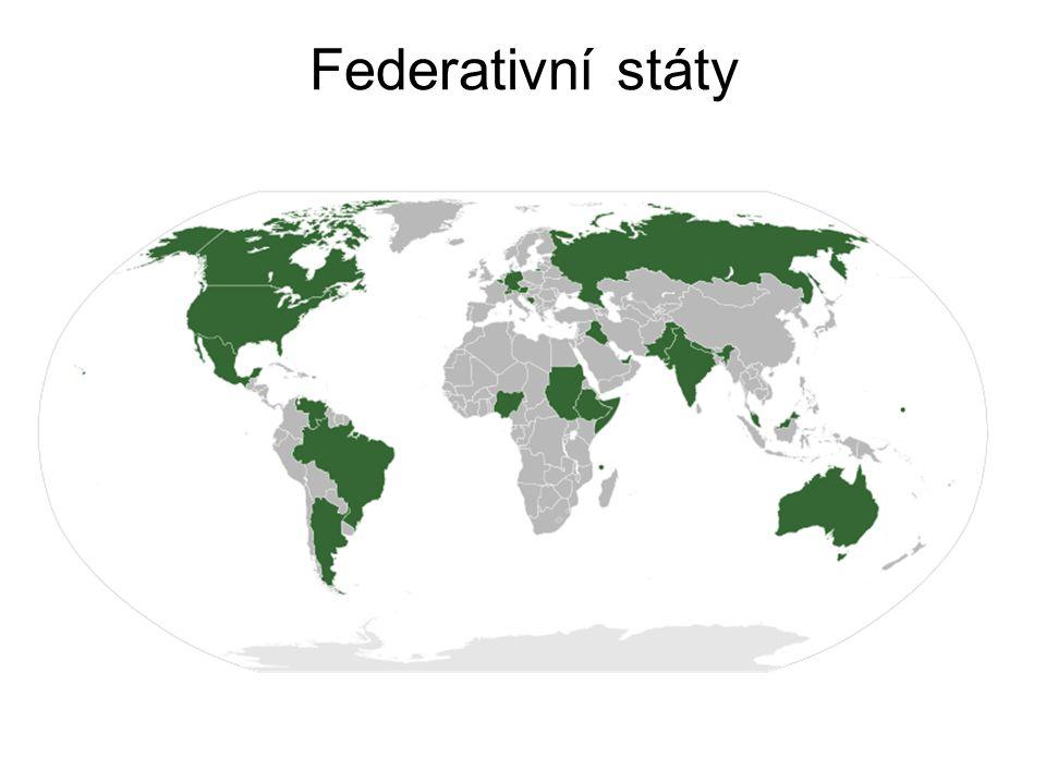 -podle závislosti -suverénní (nezávislé vnitřně i ze vnějšku) -závislé – kolonie, protektoráty, zámoř.území, přidružené státy, kondominia, mandátní (poručenecké) úz.