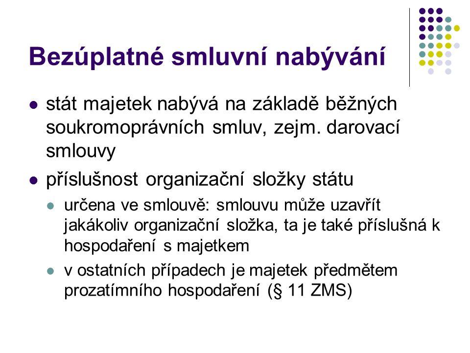 Nabývání rozhodnutím příslušného orgánu široká paleta případů vyvlastnění – zákon č.