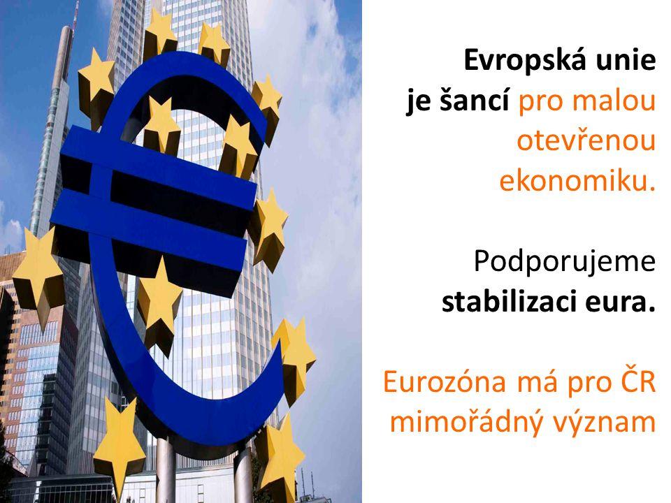 Evropská unie je šancí pro malou otevřenou ekonomiku.