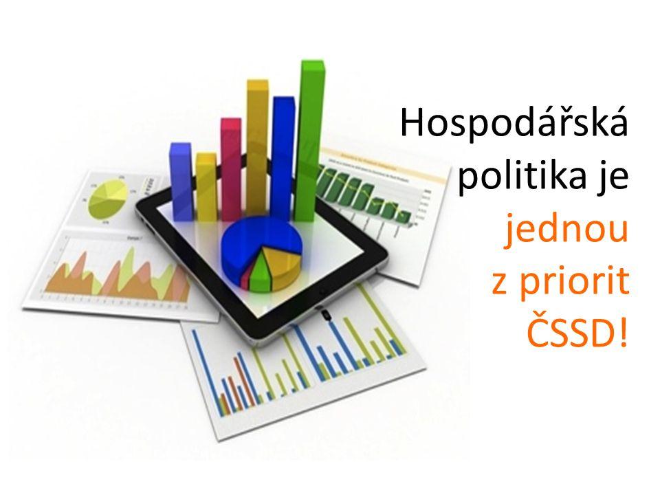 Hospodářská politika je jednou z priorit ČSSD!