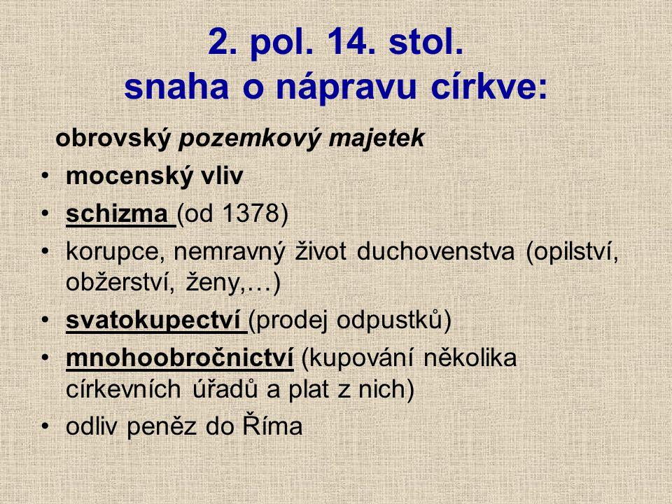 2.pol. 14. stol.