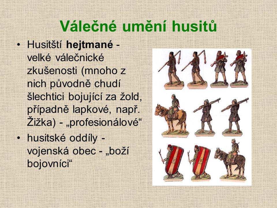 Čtyři artikuly (= články) pražské - 1420 univerzitní reformátoři sepsali hlavní zásady - společný program všech křídel hnutí: 1. svobodné kázáníslova