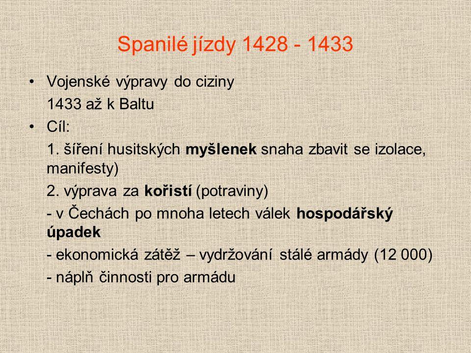 Jan Žižka z Trocnova † 1424 u Přibyslavi (asi 50 let) od 1421 úplně slepý (zranění před hradem Rabí) v čele husitských vojsk - hejtman Prokop Holý