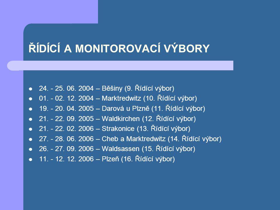 ŘÍDÍCÍ A MONITOROVACÍ VÝBORY 24. - 25. 06. 2004 – Běšiny (9.
