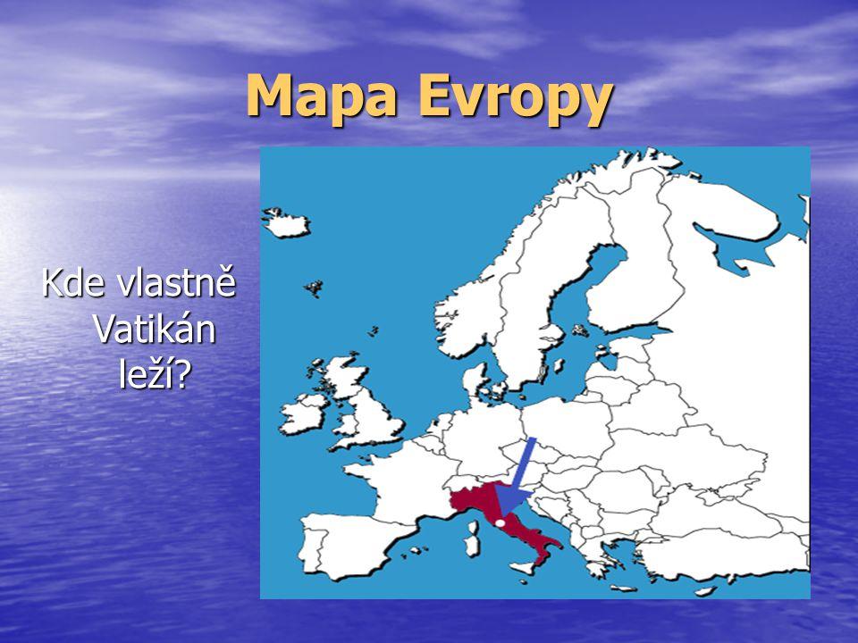 Mapa Vatikánu