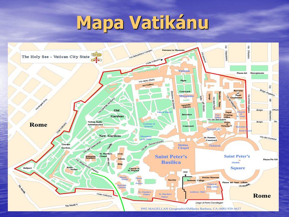 Název Státu Jméno získal Vatikán podle pahorku, na kterém se nachází.