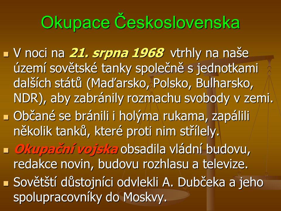 Okupace Československa V noci na 21.