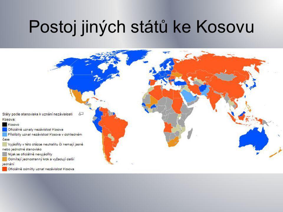 Kosovo?! Jaký postoj zastává ČR? Jaký postoj zastává USA/Rusko? Důvody?