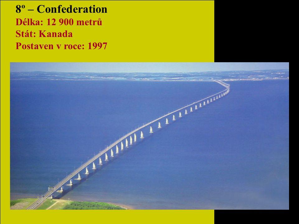 9º– San Mateo-Haywards Délka: 11 265 metrů Stát: USA Postaven v roce: 1967