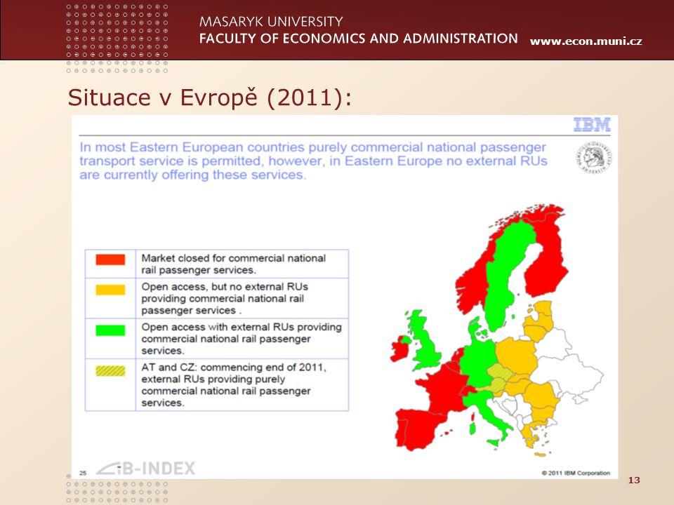 www.econ.muni.cz Situace v Evropě (2011): 13