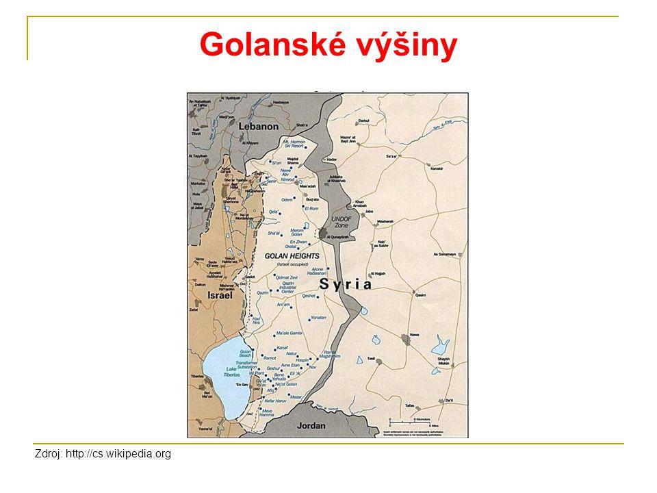 Golanské výšiny Zdroj: http://cs.wikipedia.org