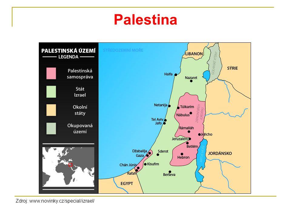 Palestina Zdroj: www.novinky.cz/special/izrael/