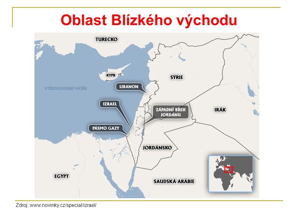 Oblast Blízkého východu Zdroj: www.novinky.cz/special/izrael/