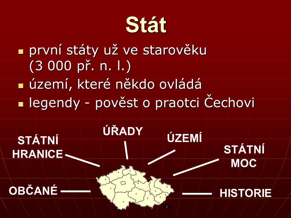 Stát první státy už ve starověku (3 000 př. n. l.) první státy už ve starověku (3 000 př.