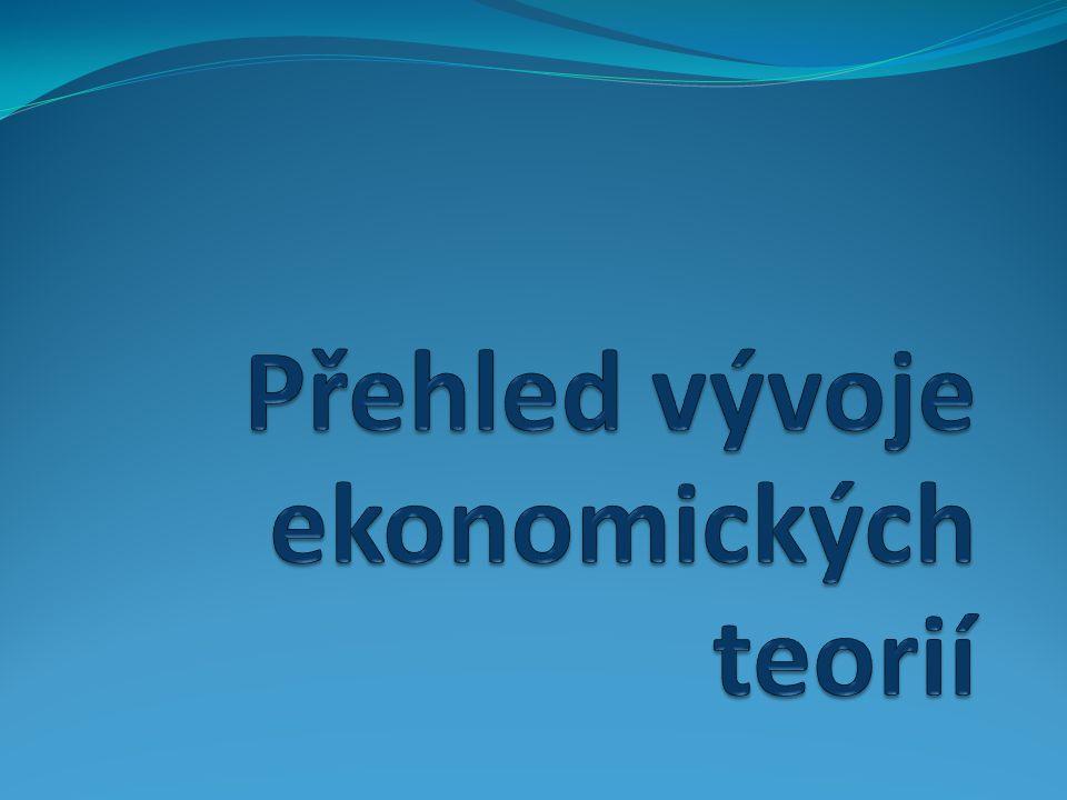 Historický pohled na ekonomii 1.