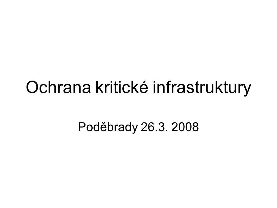1. Aktuální stav koordinace kritické infrastruktury 2. Role EU 3. Možnosti a nástroje řízení rizik