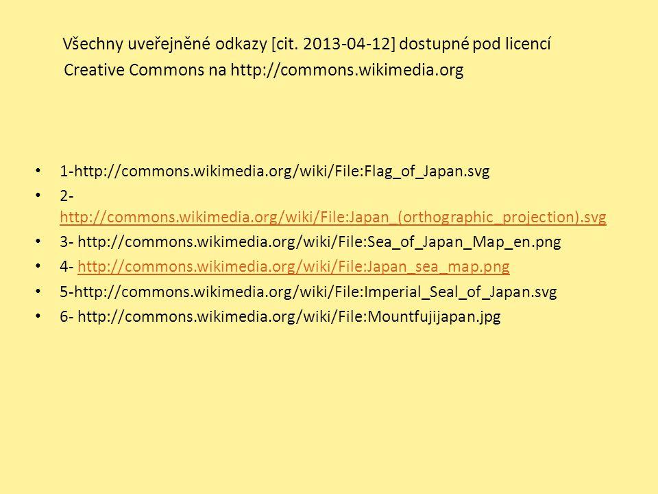 Všechny uveřejněné odkazy [cit. 2013-04-12] dostupné pod licencí Creative Commons na http://commons.wikimedia.org 1-http://commons.wikimedia.org/wiki/