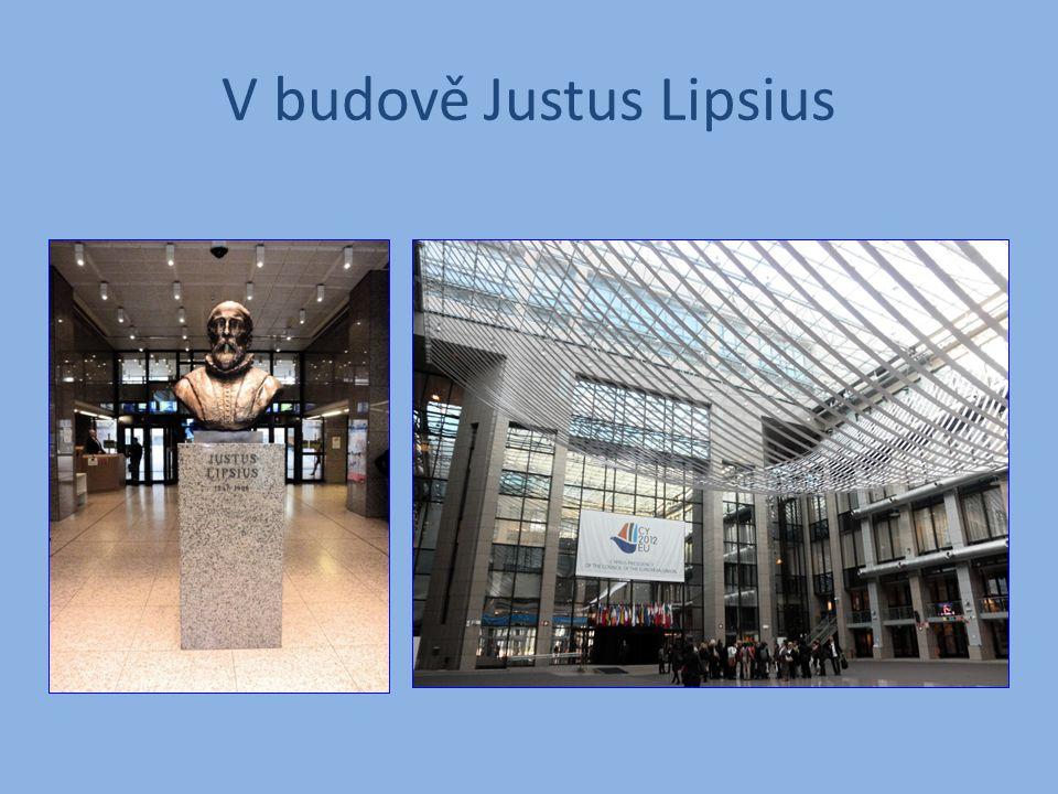 V budově Justus Lipsius