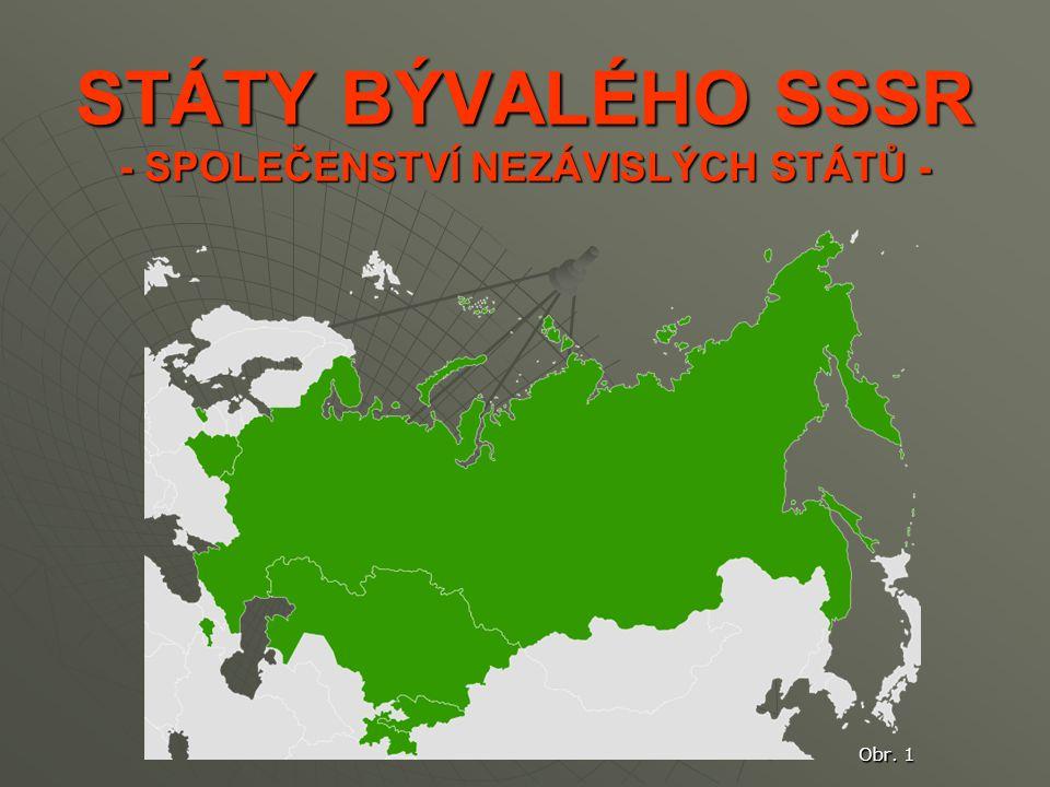 STÁTY BÝVALÉHO SSSR - SPOLEČENSTVÍ NEZÁVISLÝCH STÁTŮ - Obr. 1