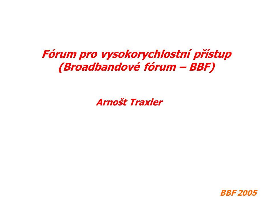 BBF 2005 Fórum pro vysokorychlostní přístup (Broadbandové fórum – BBF) Arnošt Traxler