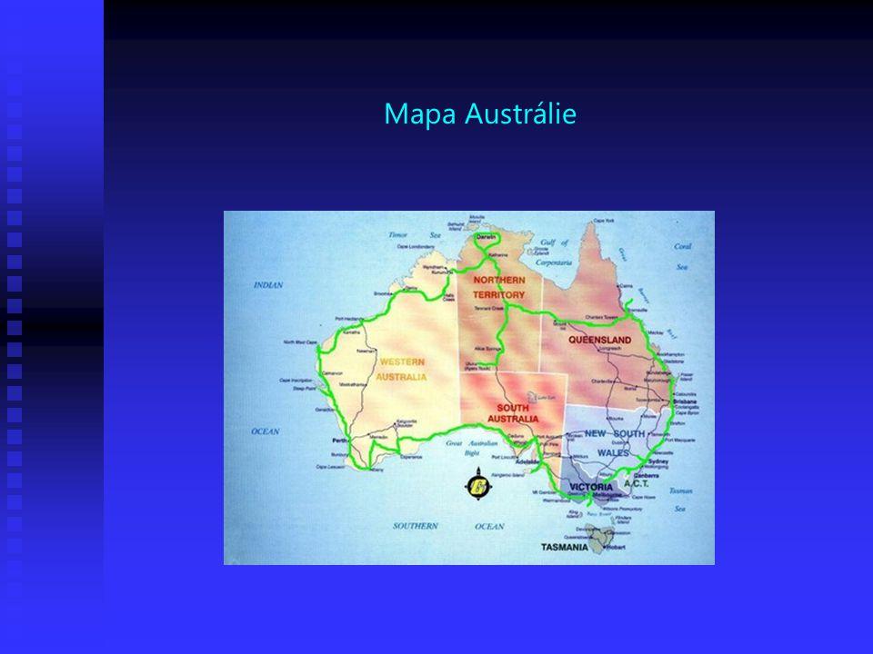 Mapa Austrálie