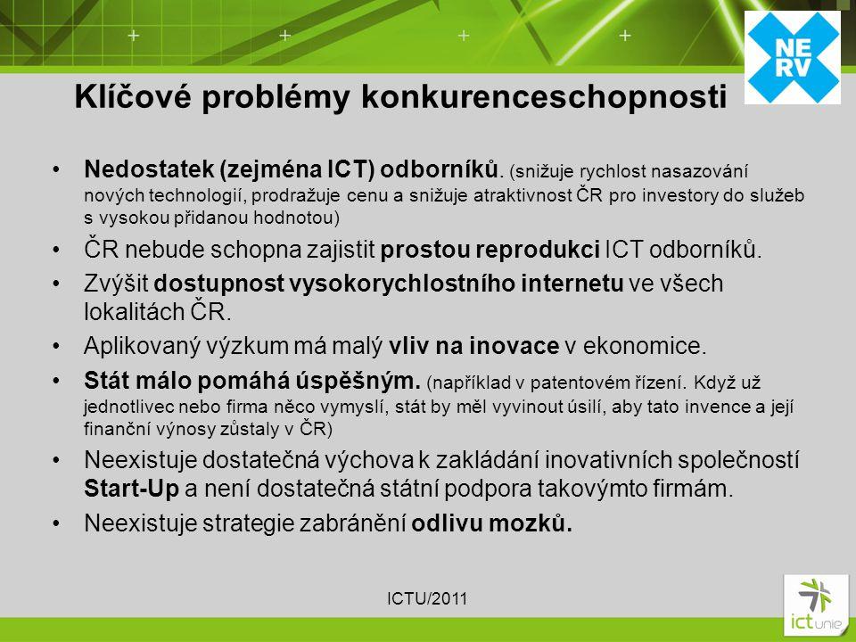 Nedostatek (zejména ICT) odborníků.