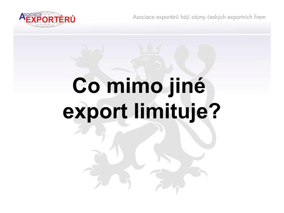 Co mimo jiné export limituje