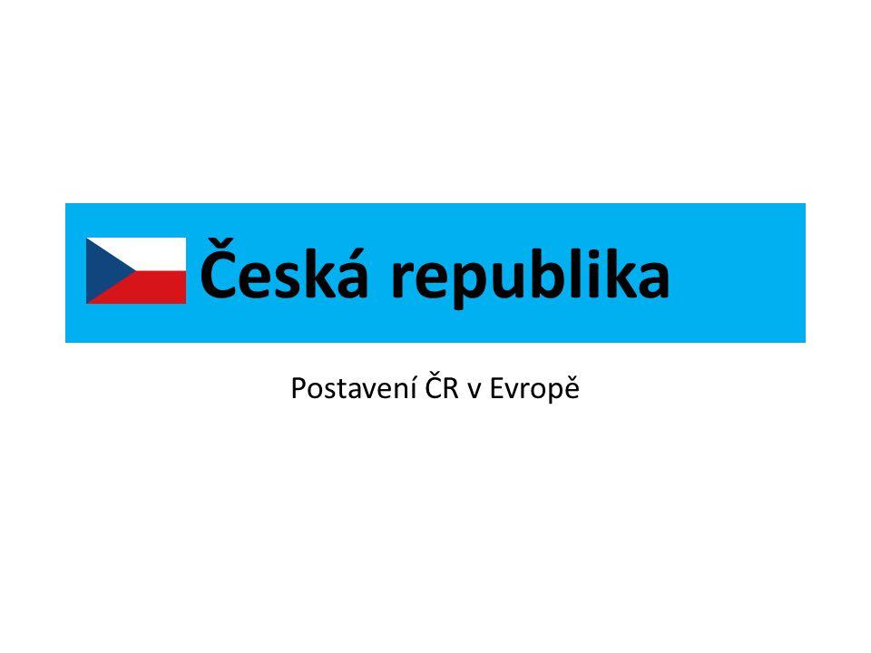 Poloha České republiky na mapě Evropy Česká republika
