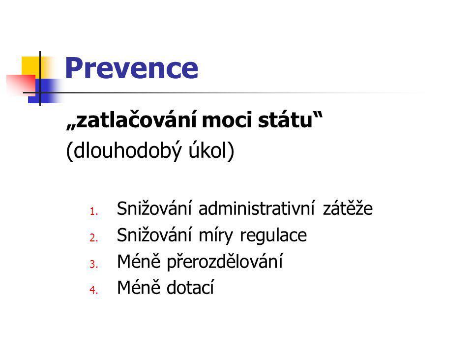 """Prevence """"zatlačování moci státu (dlouhodobý úkol) 1."""