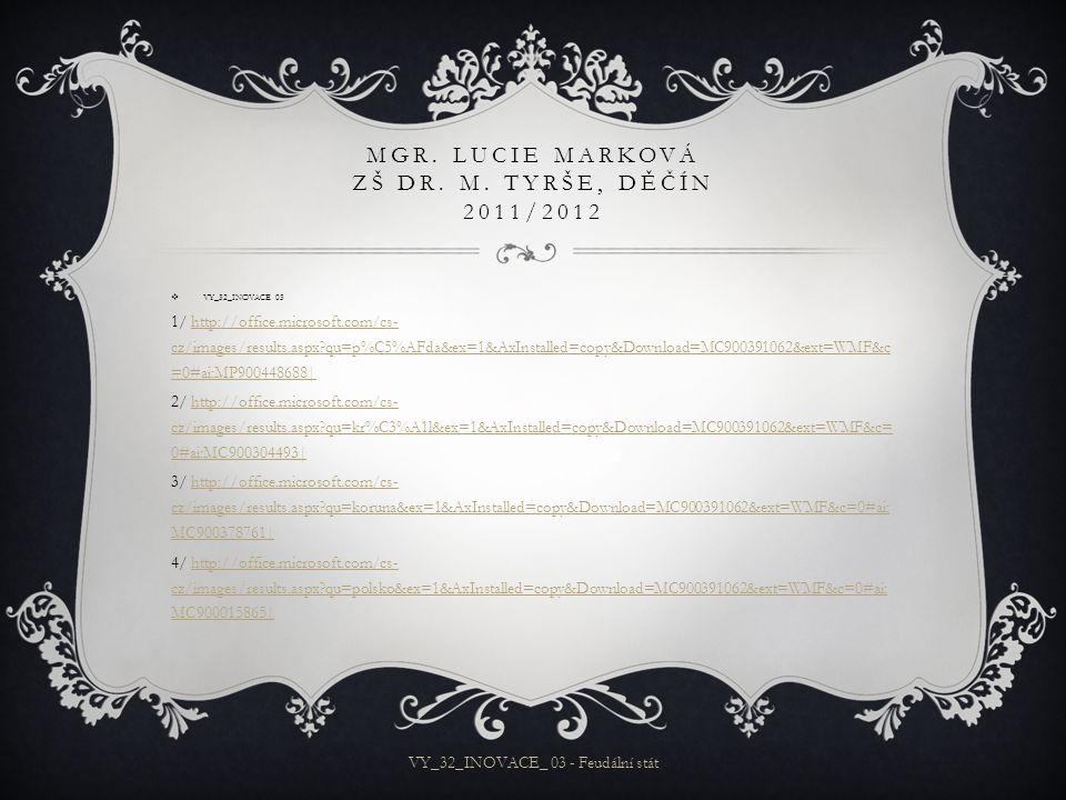 MGR.LUCIE MARKOVÁ ZŠ DR. M.