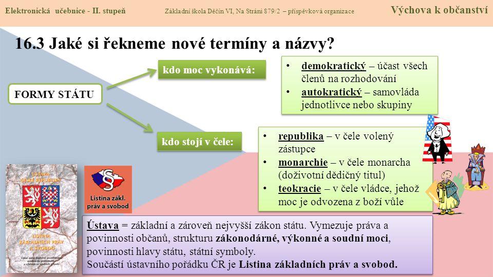 Elektronická učebnice - II. stupeň Základní škola Děčín VI, Na Stráni 879/2 – příspěvková organizace Výchova k občanství 16.3 Jaké si řekneme nové ter