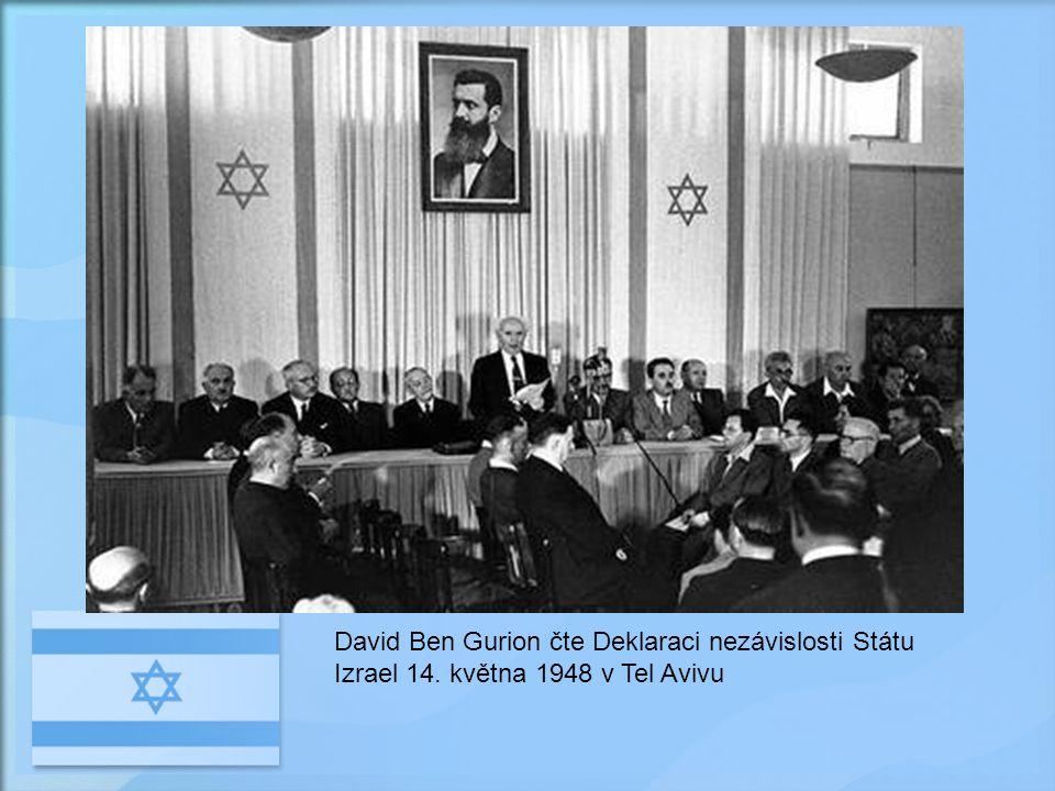 Arabský stát Židovský stát EGYPT JORDÁNSKO SÝRIE Mrtvé moře LIBANON Středozemní moře Plán OSN 1947 na rozdělení Palestiny