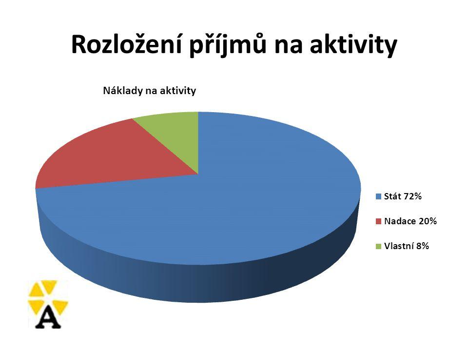 Rozložení příjmů na aktivity