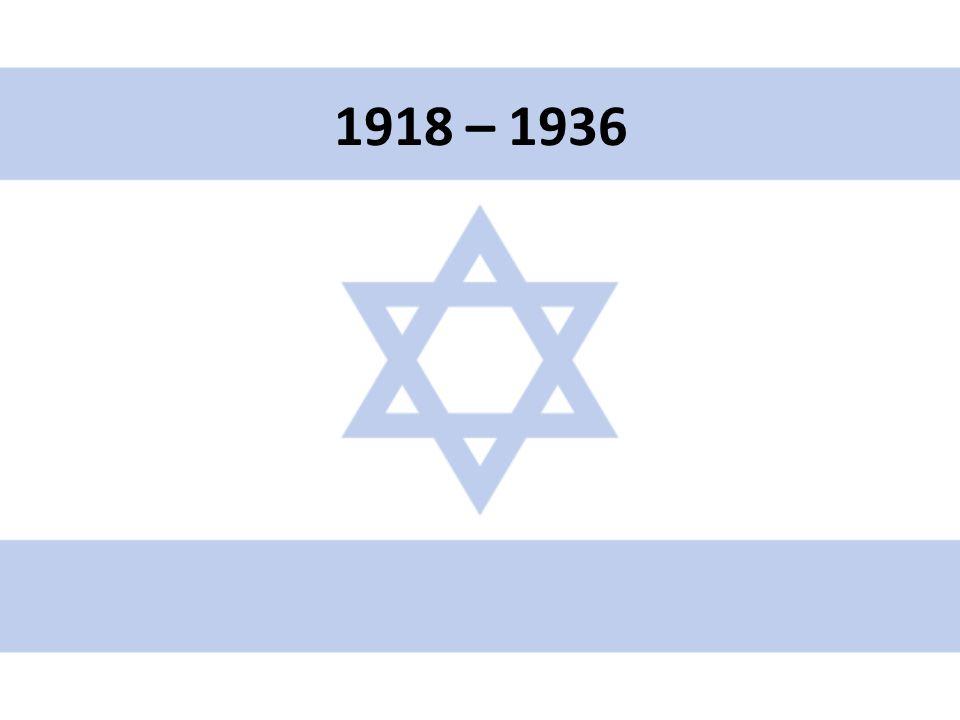 1919 – Britský mandát Palestina zřízen Společností národů