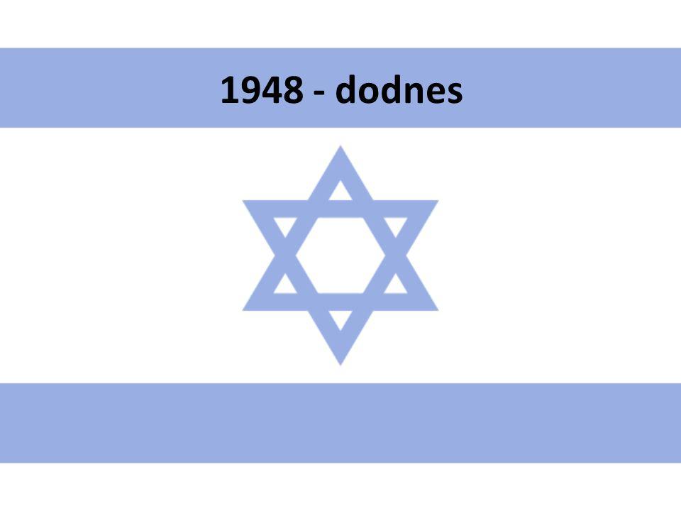 Již den po vzniku Izraele Arabské státy napadly špatně vyzbrojený Izrael Byla to první z válek, která tato země dosud vybojovala a udržela svou existenci Mír v této oblasti je zatím stále v nedohlednu
