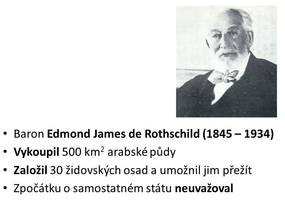 Theodor Herzl (1860 – 1904) - rakousko-uherský novinář a vizionář vzniku státu Izrael Inspirací pro něj byl sílící antisemitismus v Evropě Roku 1896 vydal knihu Židovský stát – bibli sionismu a založil Světovou sionistickou organizaci