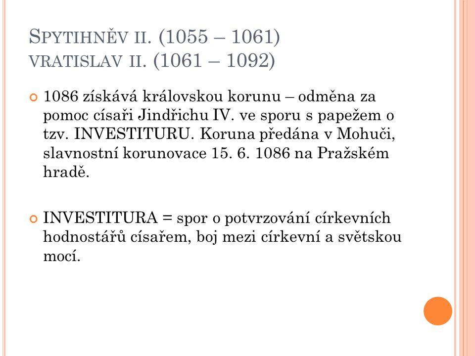 D ALŠÍ PŘEMYSLOVŠTÍ PANOVNÍCI : Konrád I.Brněnský 1192 – jen 8 měsíců Břetislav II.