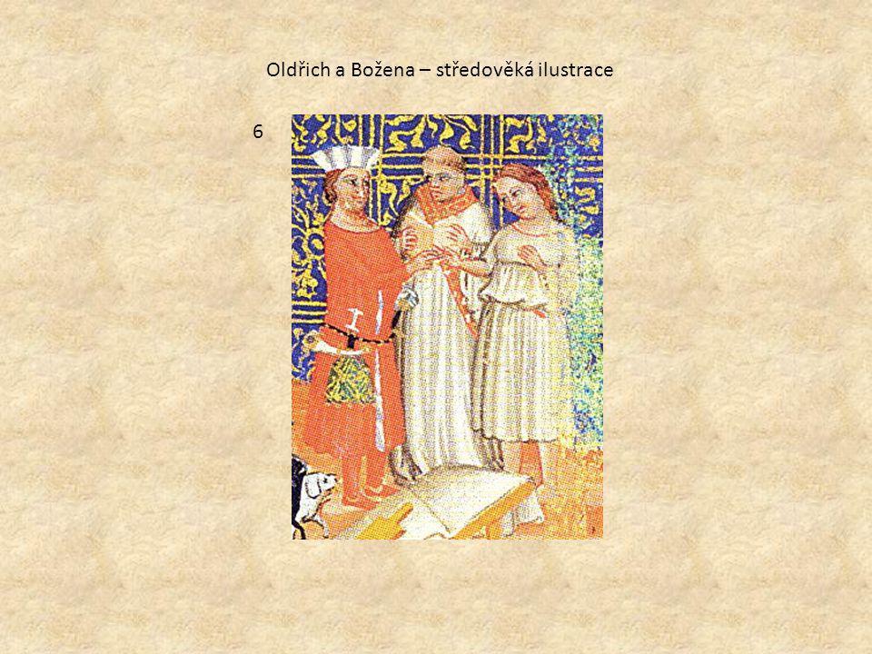 Oldřich a Božena – středověká ilustrace 6