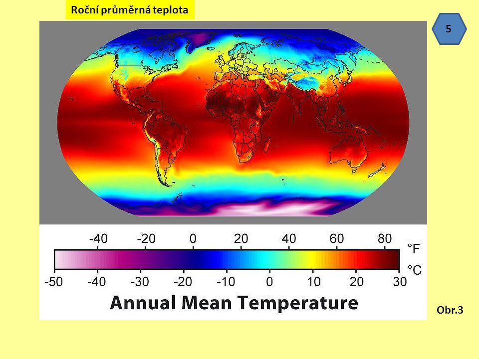 Roční průměrná teplota Obr.3 5