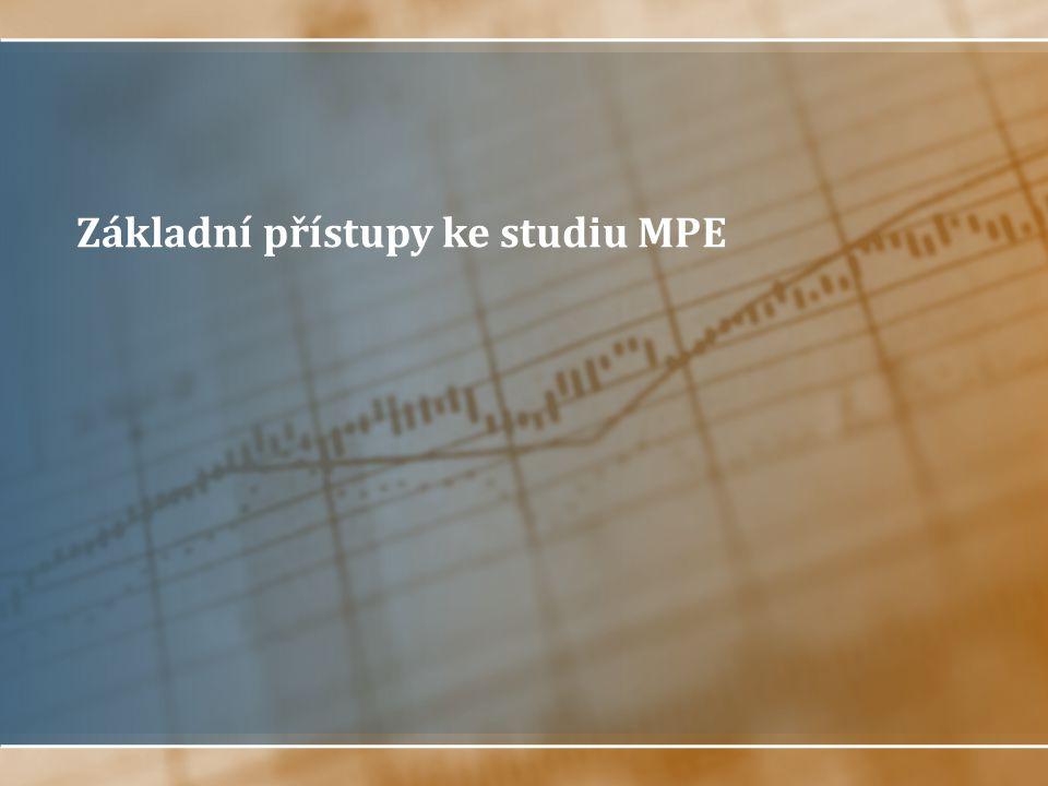 Základní přístupy ke studiu MPE